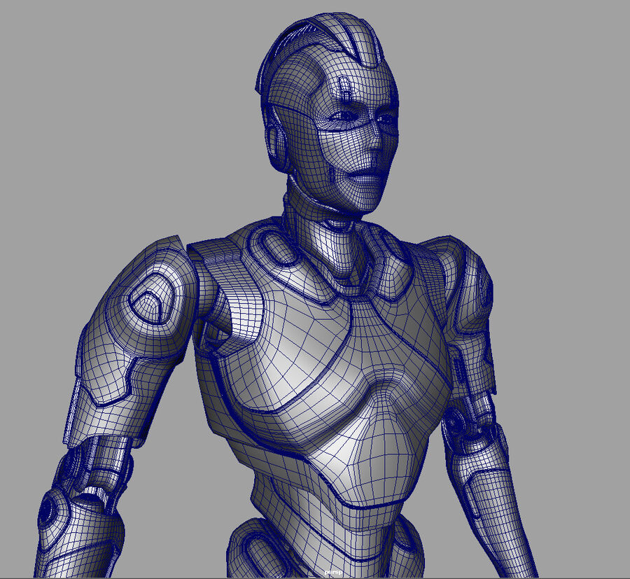 Robot Cyborg royalty-free 3d model - Preview no. 18