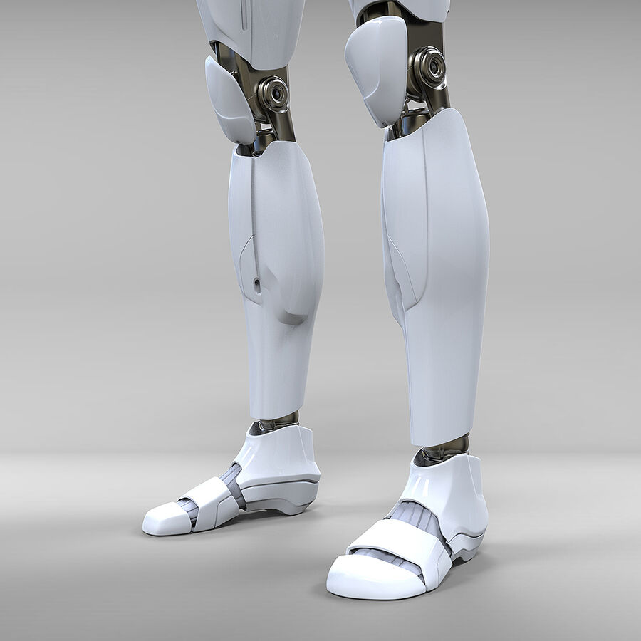 Robot Cyborg royalty-free 3d model - Preview no. 15