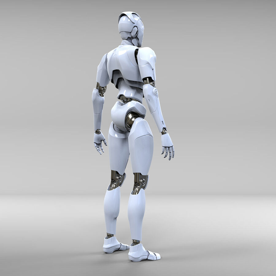 Robot Cyborg royalty-free 3d model - Preview no. 7