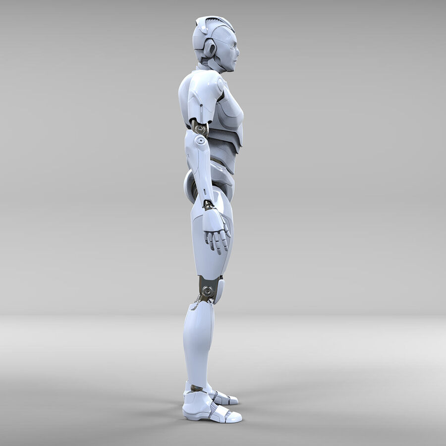 Robot Cyborg royalty-free 3d model - Preview no. 6