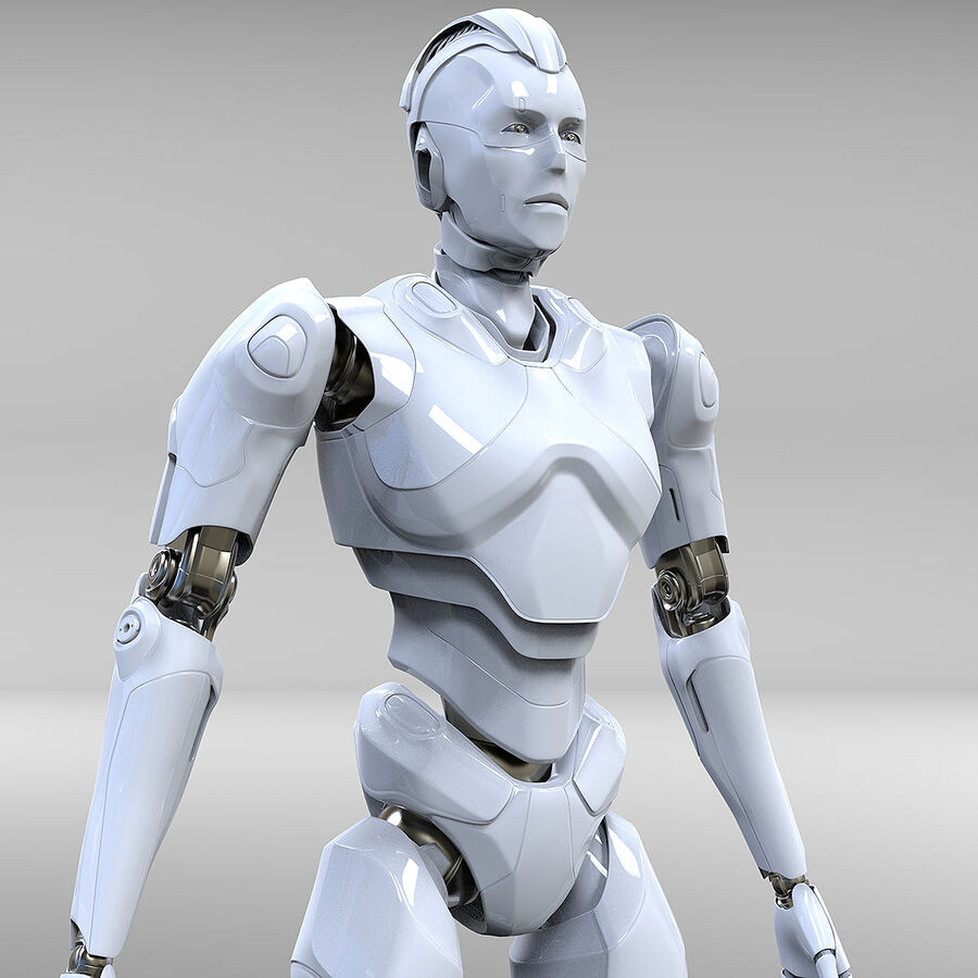 Robot Cyborg royalty-free 3d model - Preview no. 1
