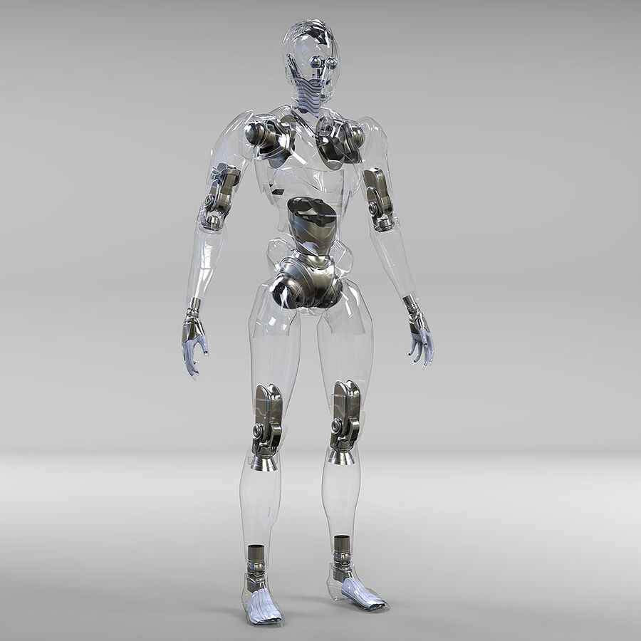 Robot Cyborg royalty-free 3d model - Preview no. 16