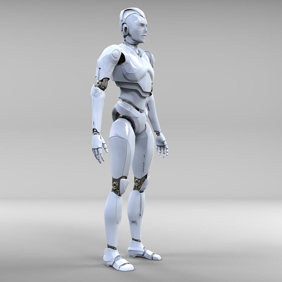 Robot Cyborg royalty-free 3d model - Preview no. 5