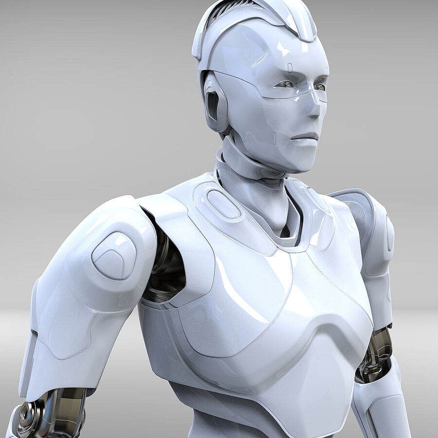 Robot Cyborg royalty-free 3d model - Preview no. 11