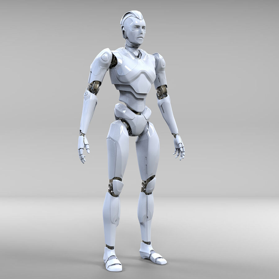 Robot Cyborg royalty-free 3d model - Preview no. 4