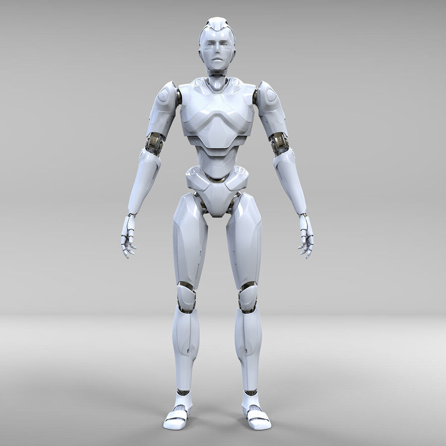 Robot Cyborg royalty-free 3d model - Preview no. 3