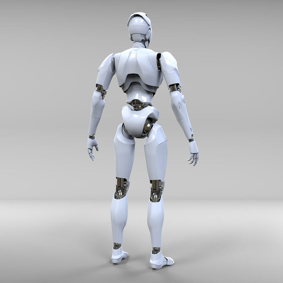 Robot Cyborg royalty-free 3d model - Preview no. 8