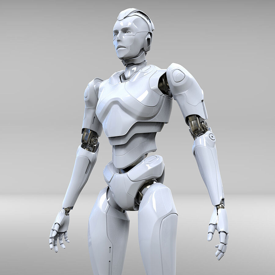 Robot Cyborg royalty-free 3d model - Preview no. 10