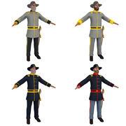 Civil War Officers PACK 3d model