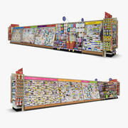 Einzelhandel Gang 10 - Grußkarten & Spielzeug 3d model