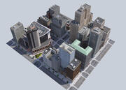 Metropolis city block 3D VR / AR / low-poly 3D model 3d model