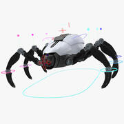 Sci-Fi Spider Rigged 3d model