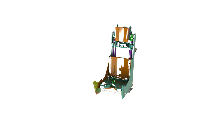 AIRCRAFT EJECTION SEAT royalty-free 3d model - Preview no. 2