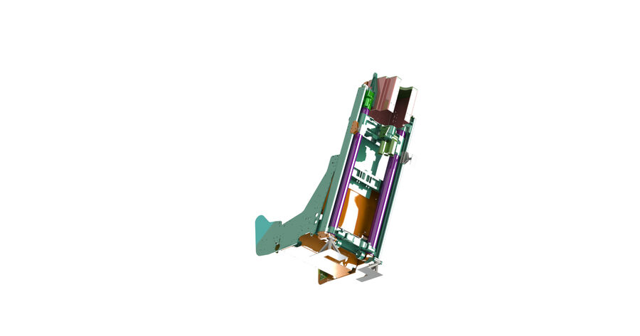 AIRCRAFT EJECTION SEAT royalty-free 3d model - Preview no. 3