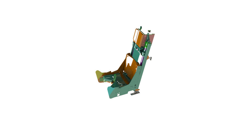 AIRCRAFT EJECTION SEAT royalty-free 3d model - Preview no. 1