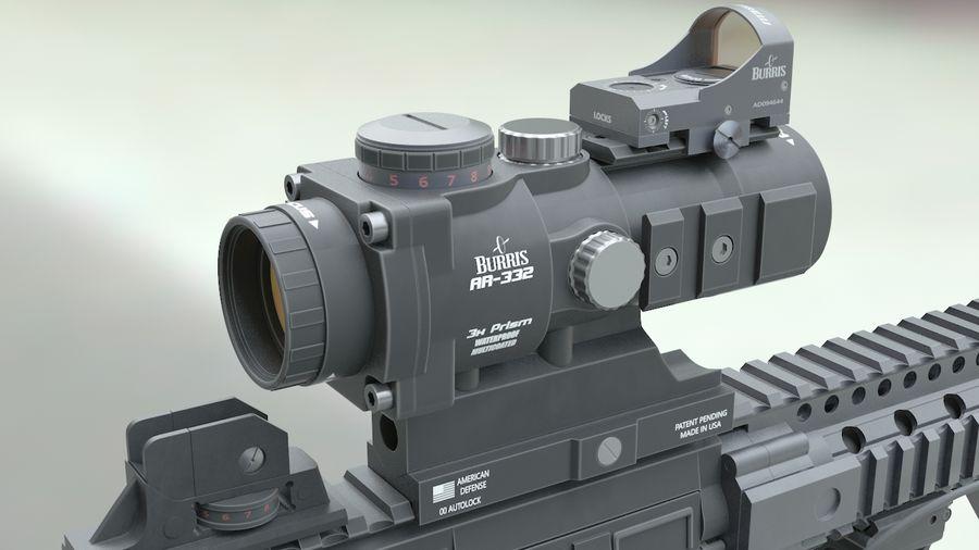 ar-15 3D model royalty-free 3d model - Preview no. 7
