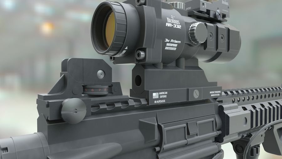 ar-15 3D model royalty-free 3d model - Preview no. 5