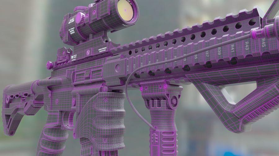ar-15 3D model royalty-free 3d model - Preview no. 10