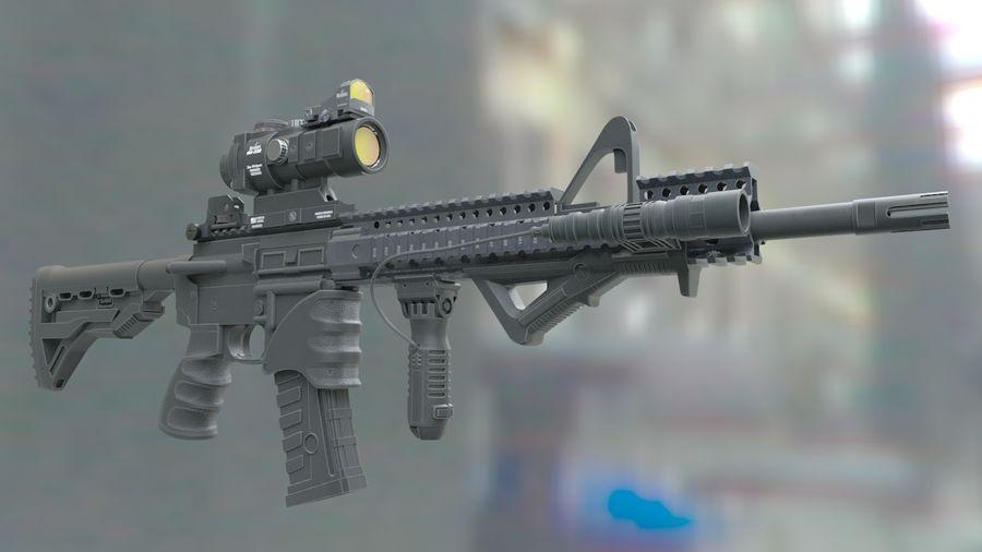 ar-15 3D model royalty-free 3d model - Preview no. 3