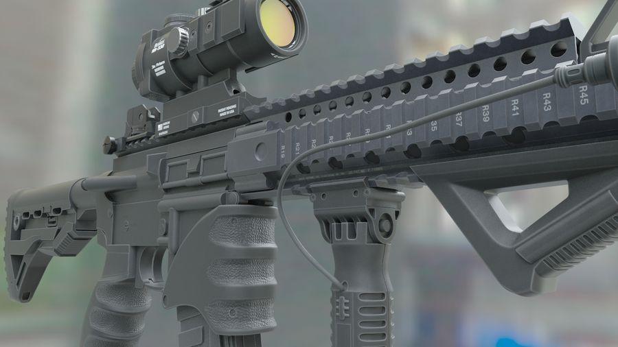ar-15 3D model royalty-free 3d model - Preview no. 2