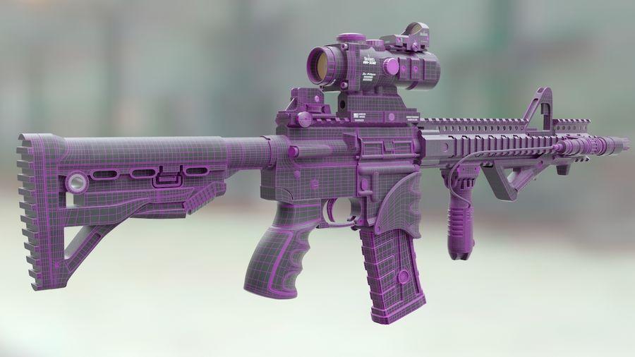 ar-15 3D model royalty-free 3d model - Preview no. 9