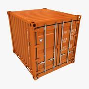 컨테이너 10ft 로우 폴리 (오렌지색) 3d model