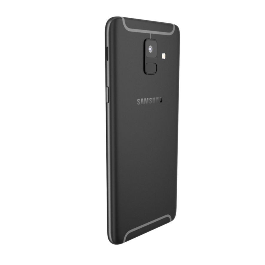 Samsung Galaxy A6(2018) Model royalty-free 3d model - Preview no. 3