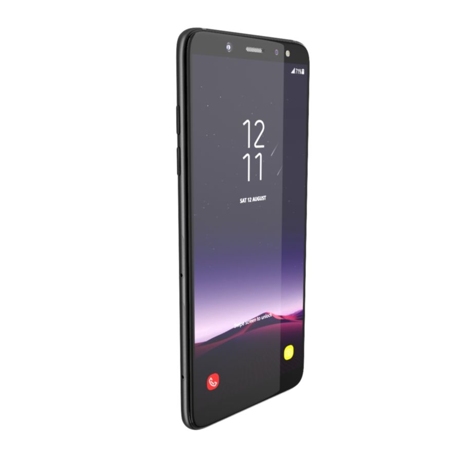 Samsung Galaxy A6(2018) Model royalty-free 3d model - Preview no. 4