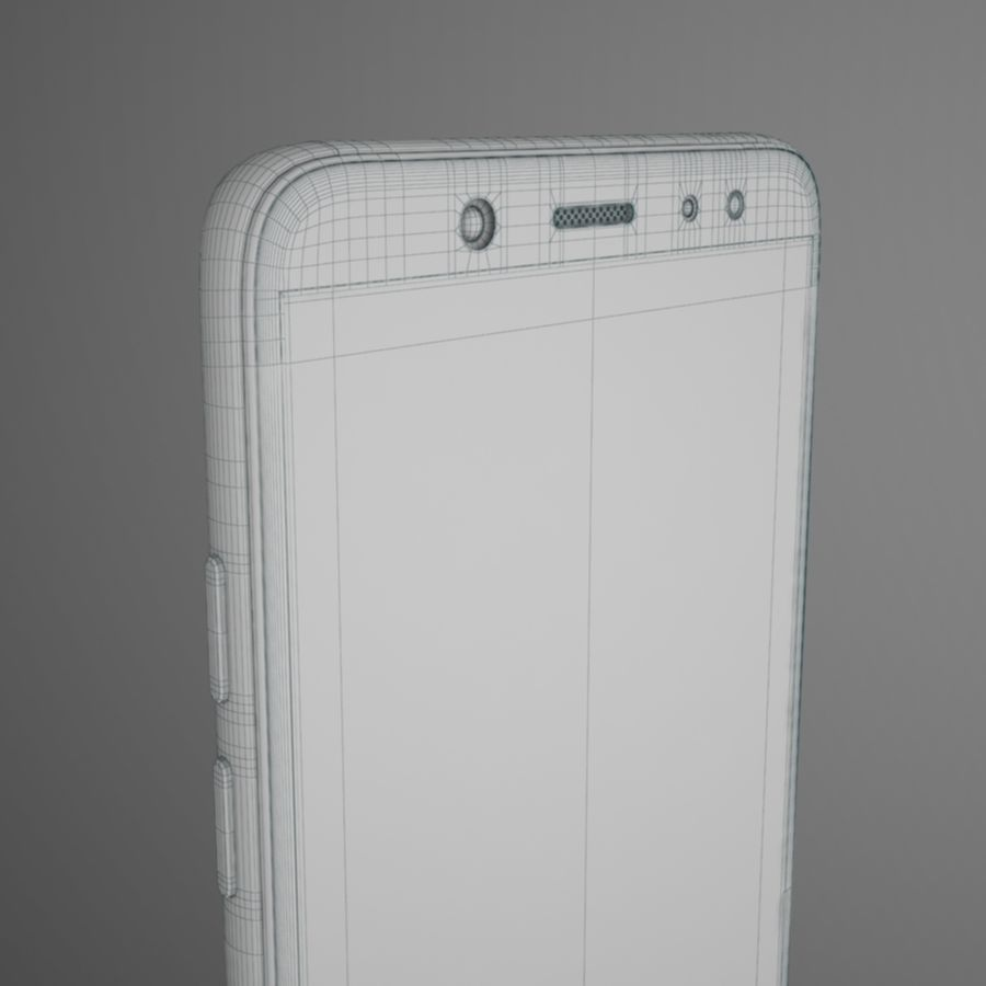 Samsung Galaxy A6(2018) Model royalty-free 3d model - Preview no. 16
