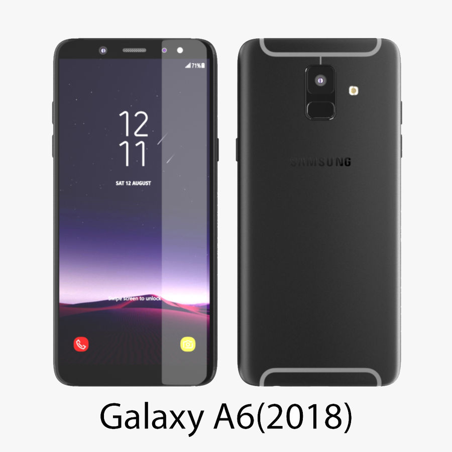 Samsung Galaxy A6 (2018) Modell royalty-free 3d model - Preview no. 2