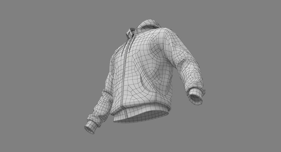 Hoodie 02 (White) +PBR royalty-free 3d model - Preview no. 30