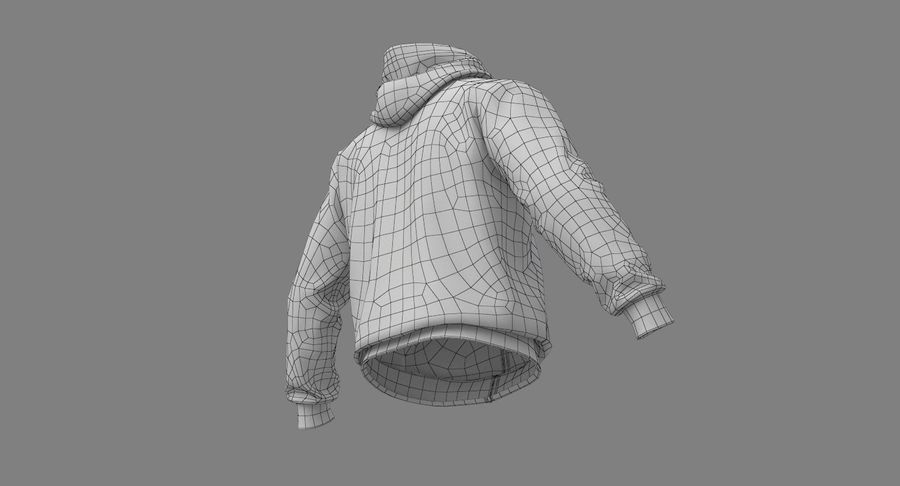 Hoodie 02 (White) +PBR royalty-free 3d model - Preview no. 33