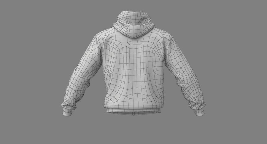 Hoodie 02 (White) +PBR royalty-free 3d model - Preview no. 28