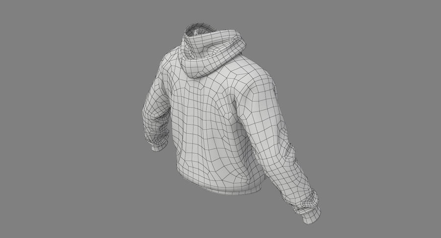 Hoodie 02 (White) +PBR royalty-free 3d model - Preview no. 32