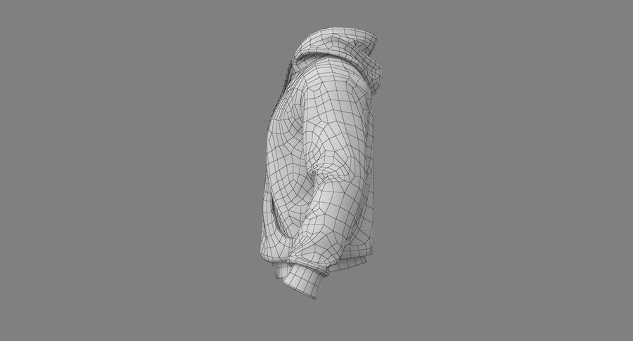 Hoodie 02 (White) +PBR royalty-free 3d model - Preview no. 27