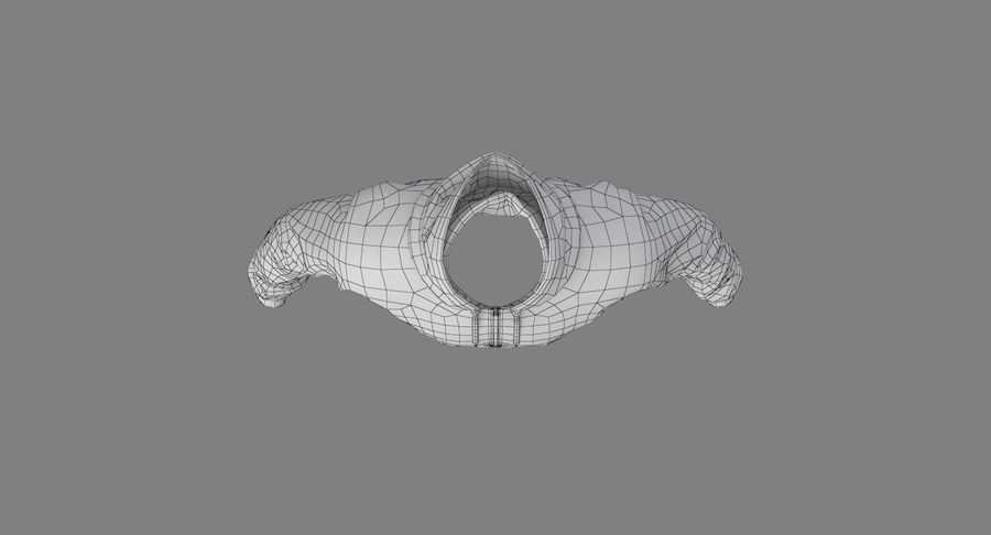 Hoodie 02 (White) +PBR royalty-free 3d model - Preview no. 25