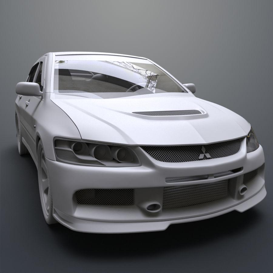 Mitsubishi lancer evolution IX royalty-free 3d model - Preview no. 13