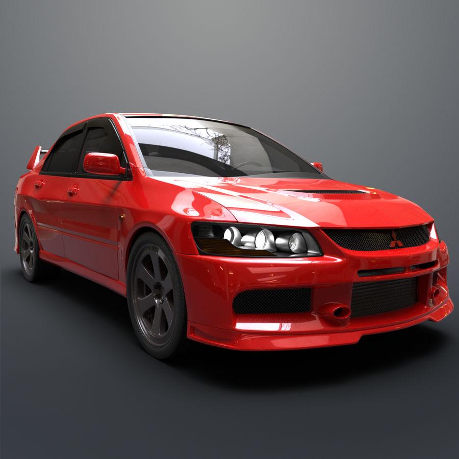 Mitsubishi lancer evolution IX royalty-free 3d model - Preview no. 7