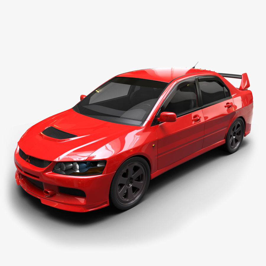 Mitsubishi lancer evolution IX royalty-free 3d model - Preview no. 1