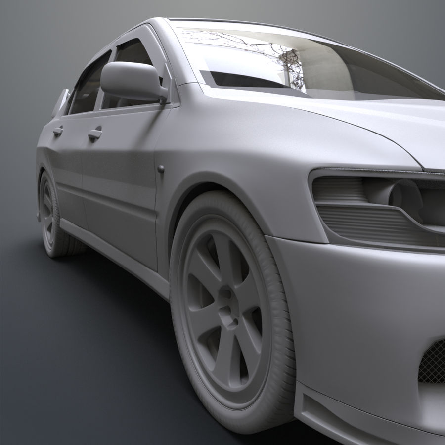 Mitsubishi lancer evolution IX royalty-free 3d model - Preview no. 14