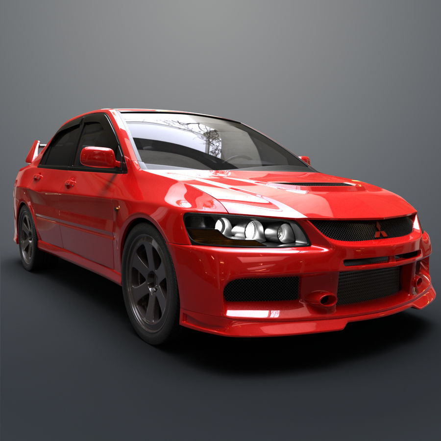 Mitsubishi lancer evolution IX royalty-free 3d model - Preview no. 7