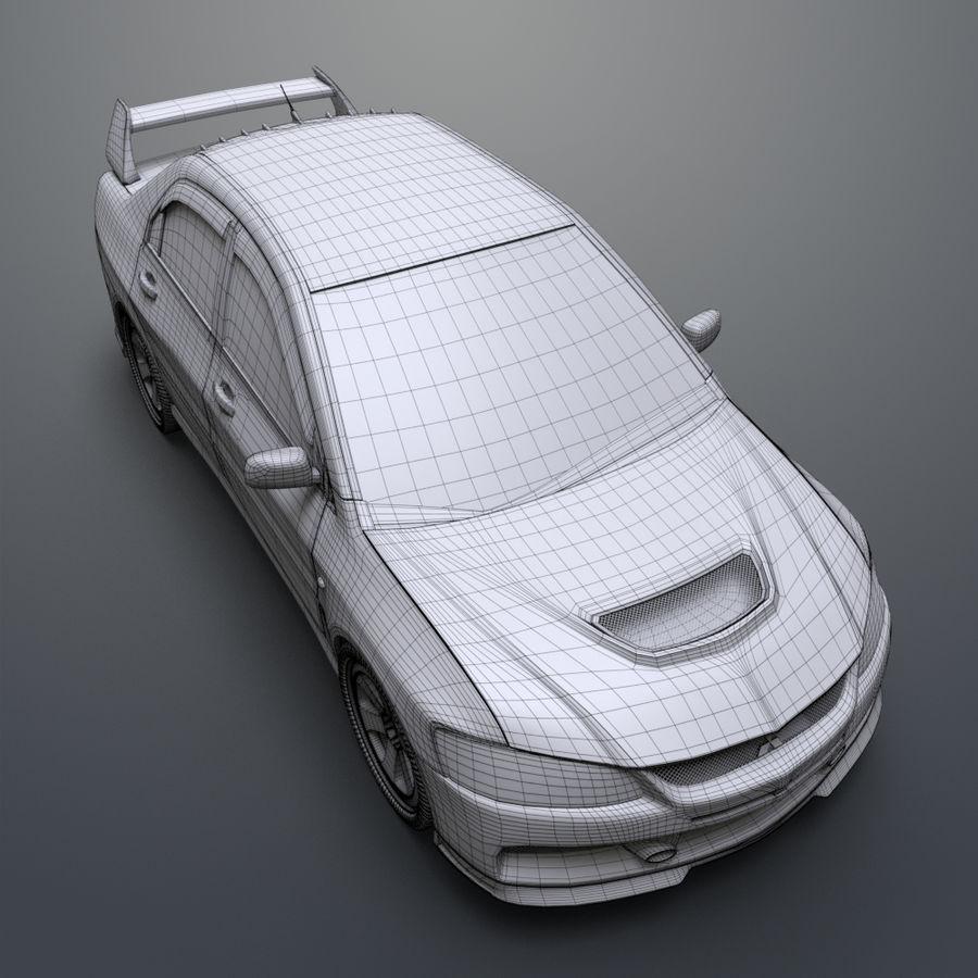 Mitsubishi lancer evolution IX royalty-free 3d model - Preview no. 21