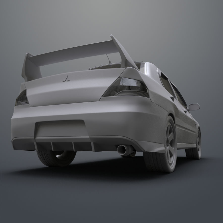 Mitsubishi lancer evolution IX royalty-free 3d model - Preview no. 15