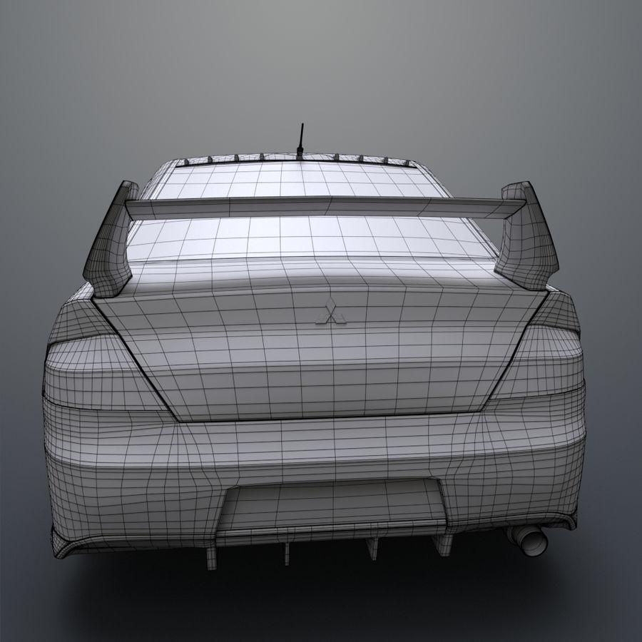 Mitsubishi lancer evolution IX royalty-free 3d model - Preview no. 18