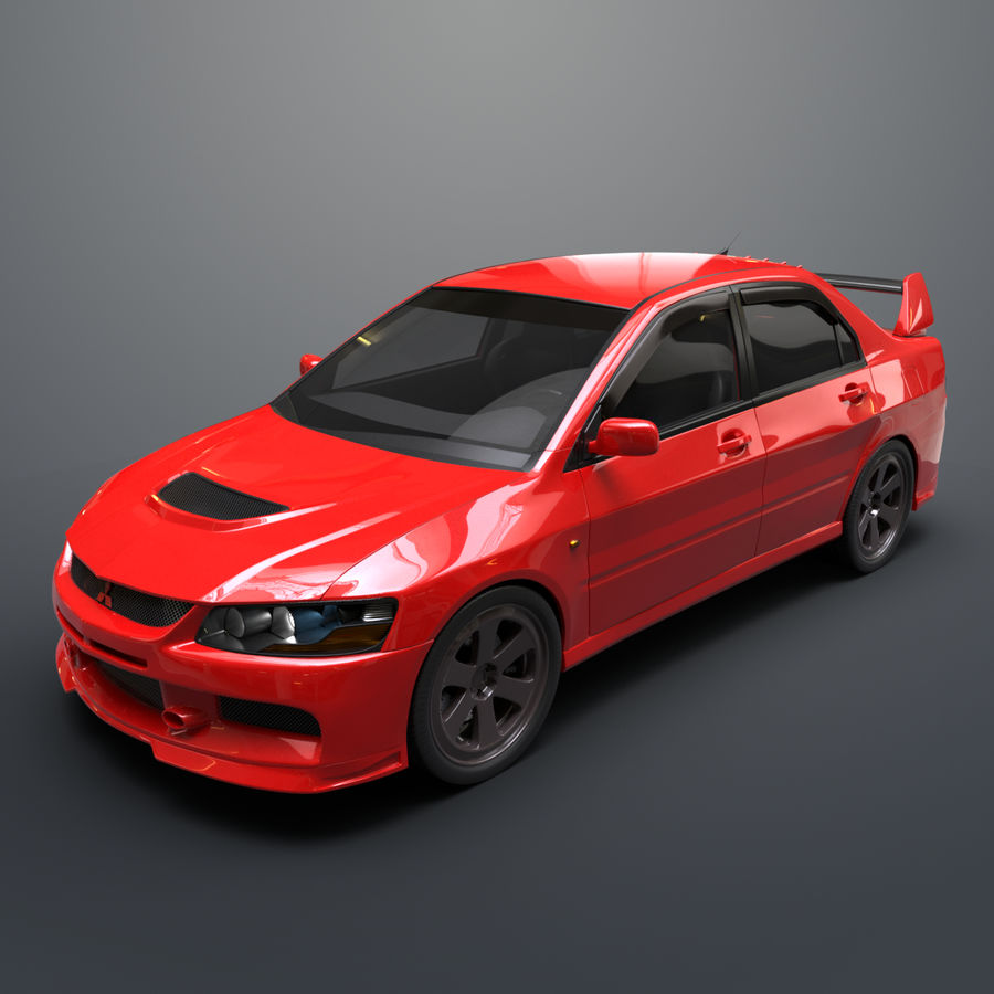 Mitsubishi lancer evolution IX royalty-free 3d model - Preview no. 2