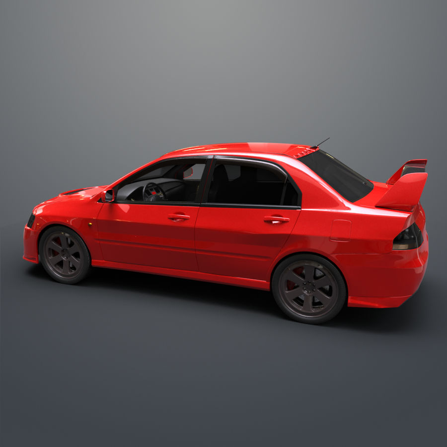 Mitsubishi lancer evolution IX royalty-free 3d model - Preview no. 3