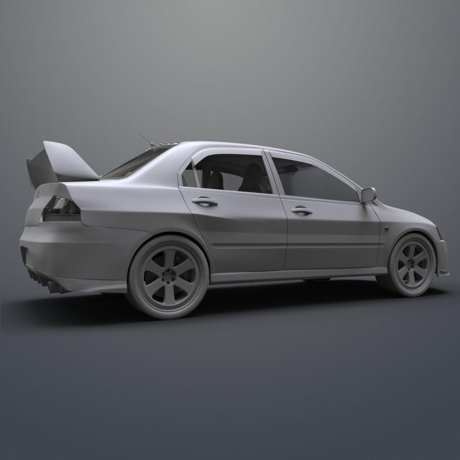 Mitsubishi lancer evolution IX royalty-free 3d model - Preview no. 12