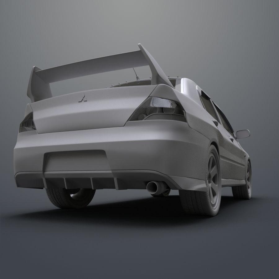 Mitsubishi lancer evolution IX royalty-free 3d model - Preview no. 15
