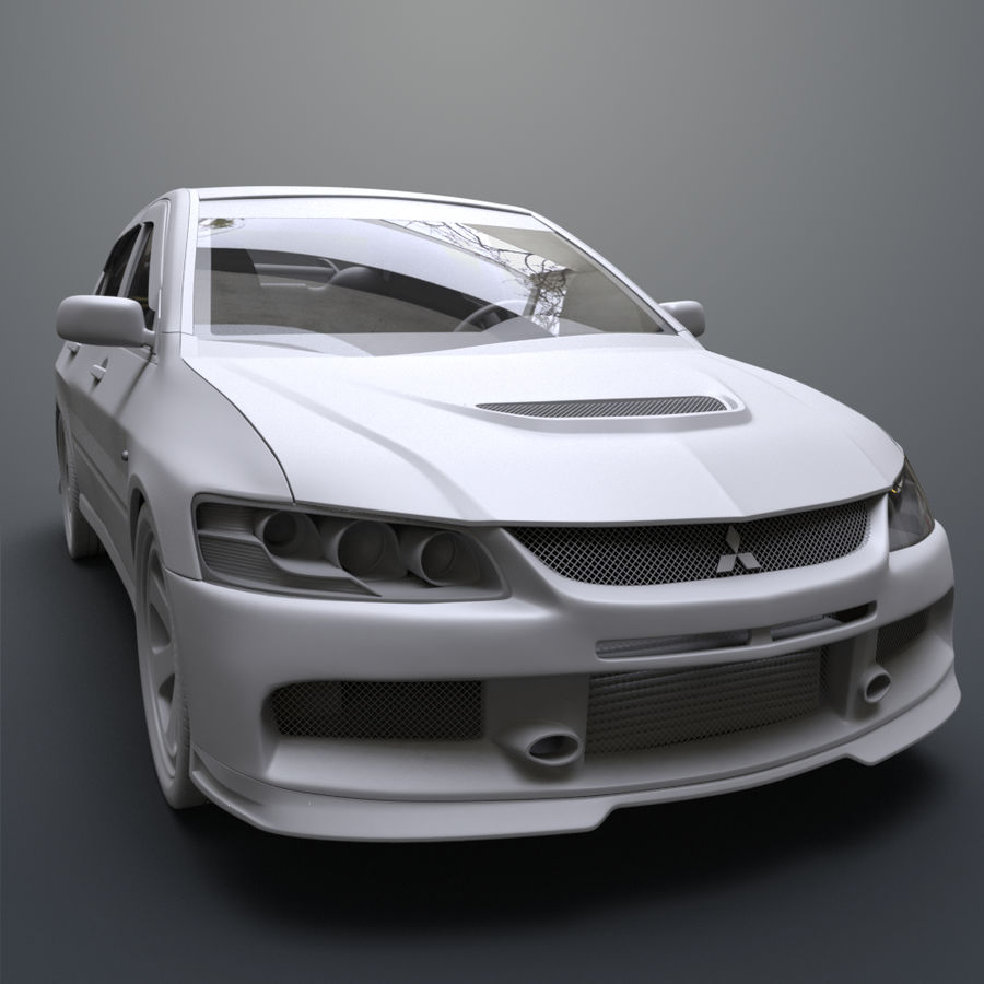 Mitsubishi lancer evolution IX royalty-free 3d model - Preview no. 13