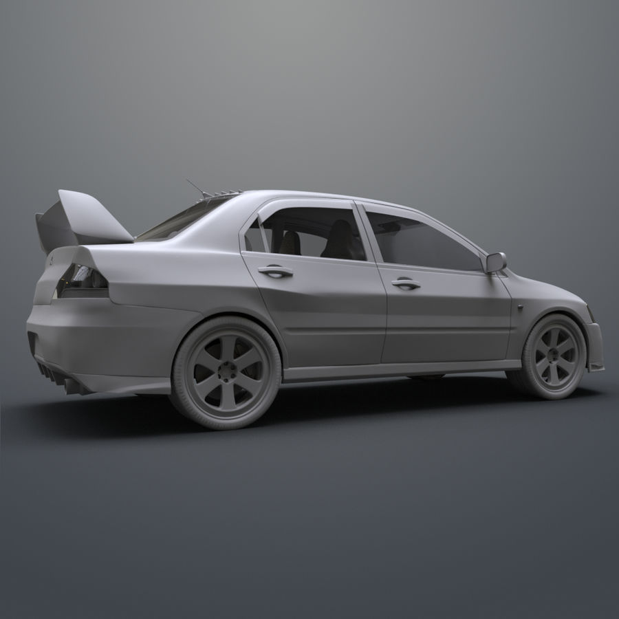 Mitsubishi lancer evolution IX royalty-free 3d model - Preview no. 12